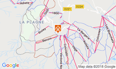 Map La Plagne Apartment 2139