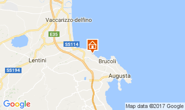 Map Brucoli Apartment 22489