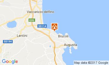 Map Brucoli Apartment 22489