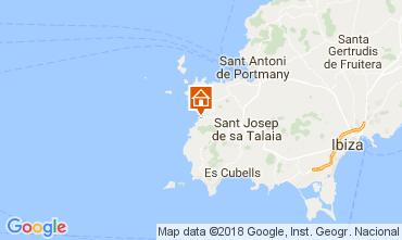 Map Cala Vadella Villa 112785