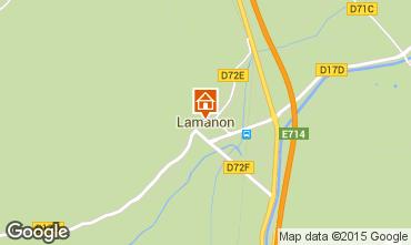 Map Lamanon Self-catering property 63660