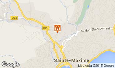 Map Sainte Maxime Villa 100051