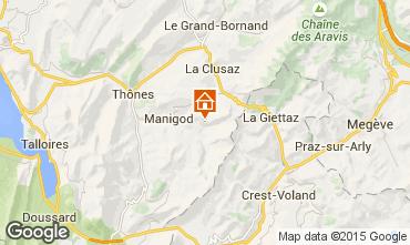 Map La Clusaz Apartment 101312