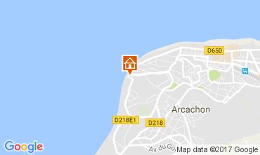Map Arcachon Studio apartment 110773