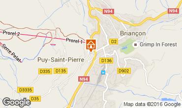 Map Briançon Apartment 16155