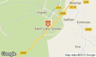 Map Saint Lary Soulan Studio apartment 65664