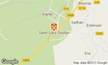 Map Saint Lary Soulan Studio apartment 65664