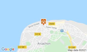 Map Arcachon Studio apartment 98573