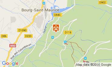 Map Les Arcs Apartment 270