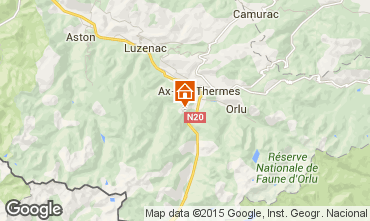 Map Ax Les Thermes Chalet 3915