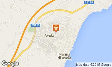 Map Avola Studio apartment 26428