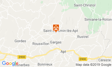 Map Saint Saturnin les Apt Self-catering property 118385