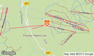 Map Peisey-Vallandry Apartment 4750