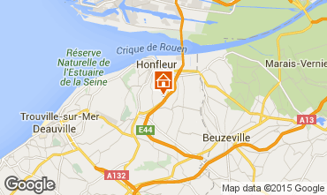 Map Honfleur Self-catering property 61976