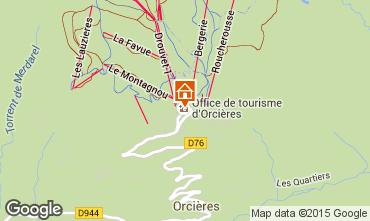 Map Orcières Merlette Apartment 80594