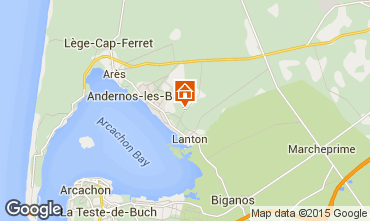 Map Andernos les Bains Self-catering property 91292