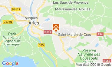 Map Arles Self-catering property 119570