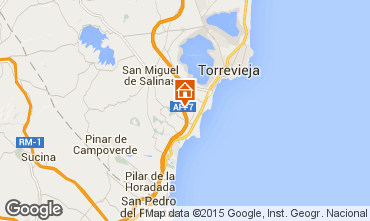 Map Torrevieja Apartment 77554