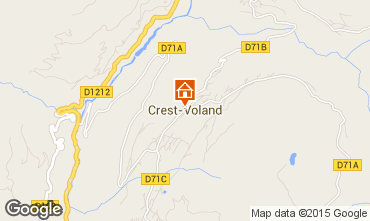 Map Crest Voland Cohennoz Apartment 61393