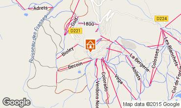Map La Plagne Apartment 34893