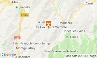 Map Valmorel Apartment 66025