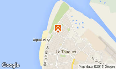 Map Le Touquet Villa 101677