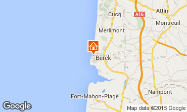 Map Berck-Plage Studio apartment 71256