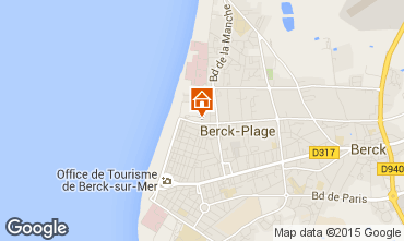 Map Berck-Plage Studio apartment 71256