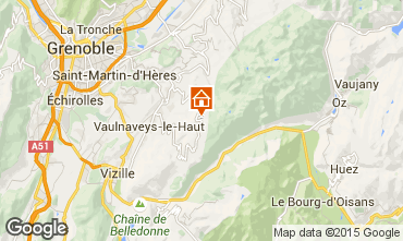Map Chamrousse Apartment 100483