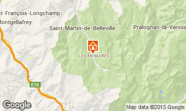 Map Les Menuires Studio apartment 59631