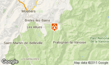 Map Courchevel Apartment 90322