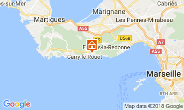 Map Carry le Rouet Villa 105398
