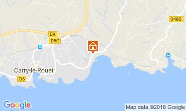 Map Carry le Rouet Villa 105398
