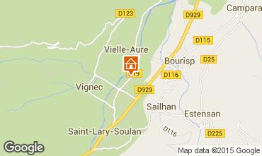 Map Saint Lary Soulan Apartment 101797