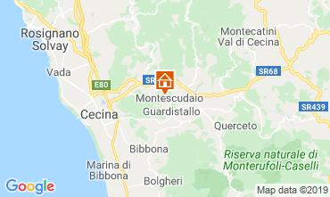 Map Montescudaio Studio apartment 116189