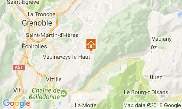 Map Chamrousse Apartment 107456