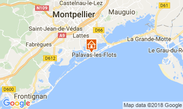 Map Palavas-les-Flots Apartment 113745