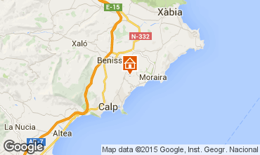 Map Benissa Bungalow 54771