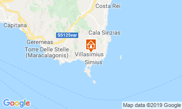 Map Villasimius Apartment 117943