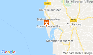 Map Agon-Coutainville Villa 15234