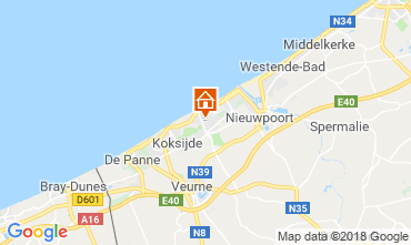 Map Koksijde Villa 116736
