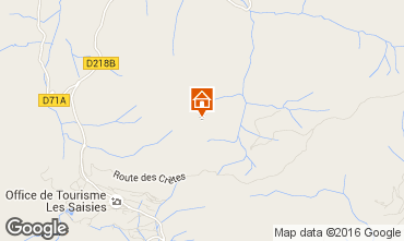 Map Les Saisies Apartment 48734