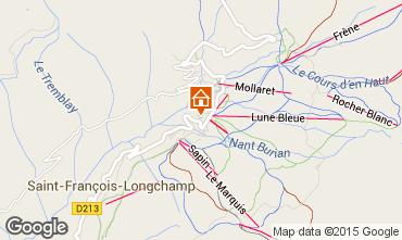 Map Saint François Longchamp Apartment 73700