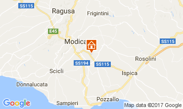 Map Modica Villa 80757