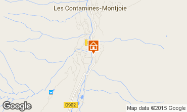 Map Les Contamines Montjoie Apartment 919