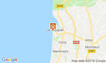 Map Le Touquet Apartment 81592