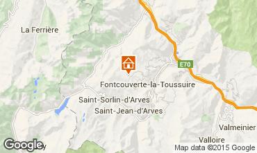 Map La Toussuire Studio apartment 3184