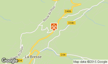 Map La Bresse Hohneck Self-catering property 4549