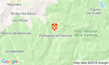 Map Pralognan la Vanoise Self-catering property 45684