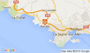 Map Bandol Apartment 102383